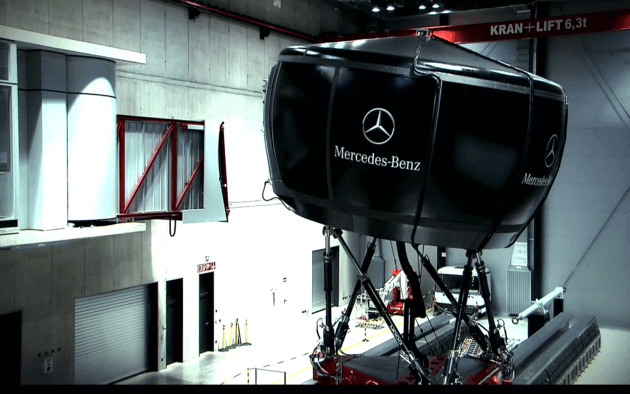 mercedes driving simulator most advanced in the world. Black Bedroom Furniture Sets. Home Design Ideas
