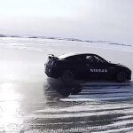 Nissan GT-R breaks ice speed record