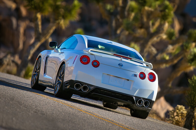 Rear view of the 2014 Nissan GT-R