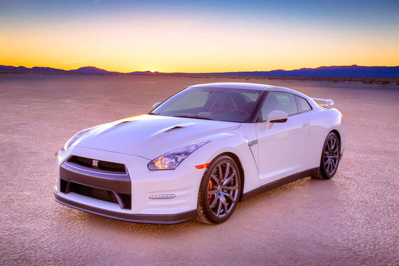 2014 Nissan GT-R from the front