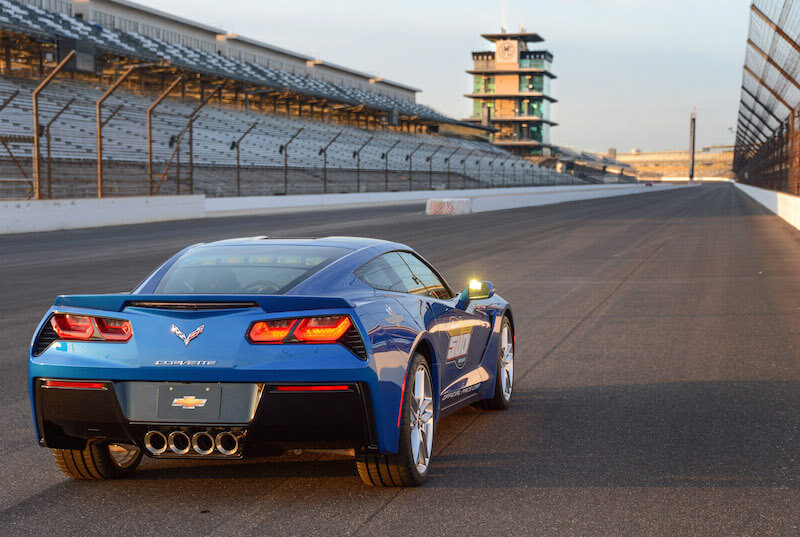 Back-end of the Corvette Stingray Indy 500 pace car