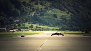 Nissan GT-R takes on jet