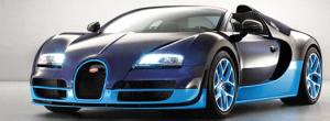 The second most expensive car produced by Bugatti the Grand Sport Vitesse
