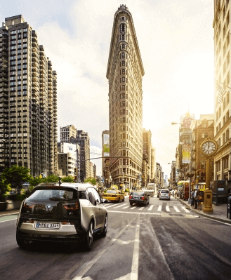 BMW i3 in city