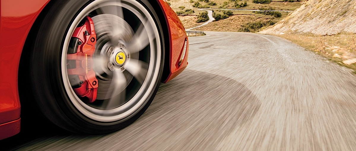 Ferrari 458 Speciale wheel close-up.