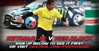 Video thumbnail for youtube video Ghymkana star Ken Block and Neymar Jr's Footkhana Video Teaser - Autosaur