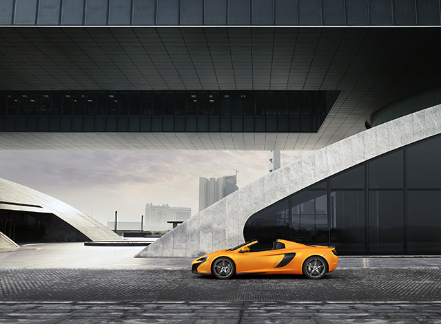 Profile of the Mclaren 650s Spider