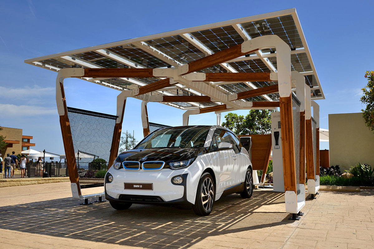 Power Your Bmw Using A Solar Powered Garage