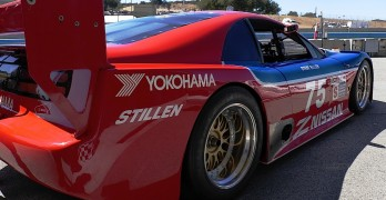 Legendary racer Steve Millen and his No. 75 Nissan 300ZX take to