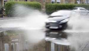 Aquaplaning effect can hamper your ability to steer or brake your car.