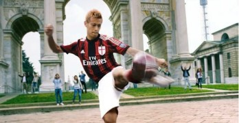 AC Milan take on an Audi R8 in the Toyo Tires advert