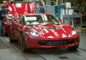 Chevrolet began shipment of the 2015 Corvette Z06 coupe Saturday, November 29, 2014, from Bowling Green Assembly in Bowling Green, Kentucky. Some customers could receive their Corvette Z06 - the fastest production Corvette ever - later this week. (Photo by Joe Imel for Chevrolet)