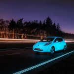 Nissan Take Glowing Leaf to Smart Highway