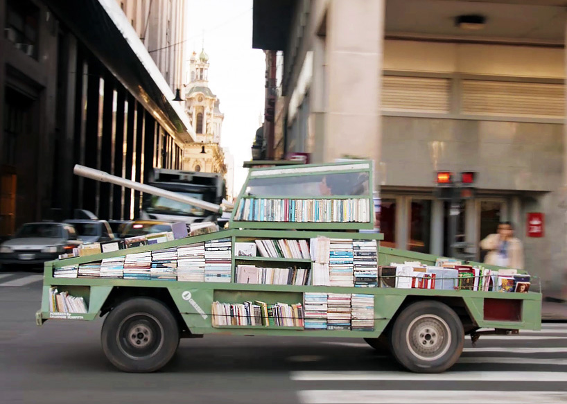 This Guy Turned A Ford Falcon Into A Tank To Deliver Free Books