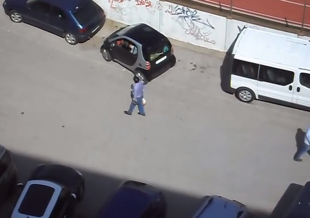 Small car and a huge space, what a dilemma.