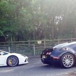 Bugatti Veyron and Lamborghini Aventador make some great sounds in street tunnels
