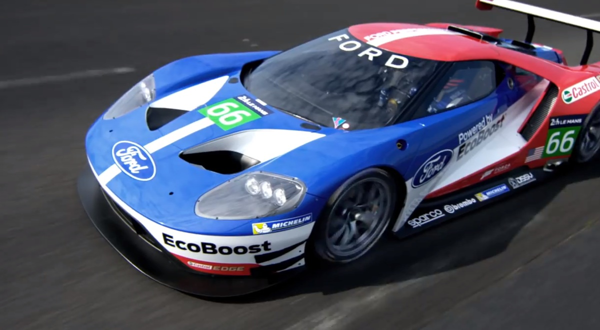 Ford GT race car back at Le Mans (video)