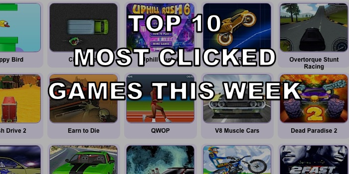 Top Ten Most Clicked Games – Week 25