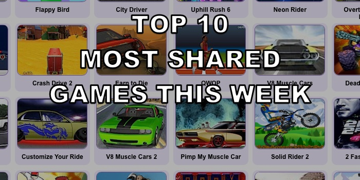 Top Ten Most Shared Games – Week 25