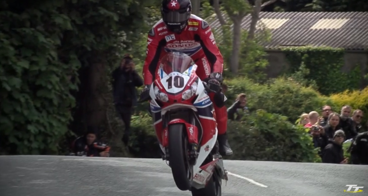 Cool slow motion footage from Isle of Man TT 2015