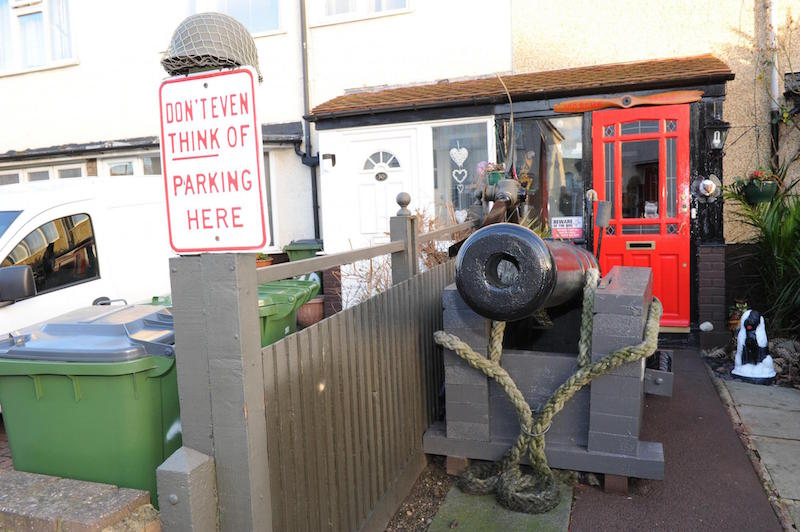 This Ex-Army Captain Has An Epic Way To Stop People Parking Outside His House