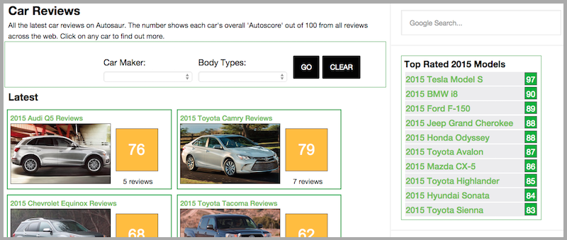 Check Out Our New Car Reviews Section
