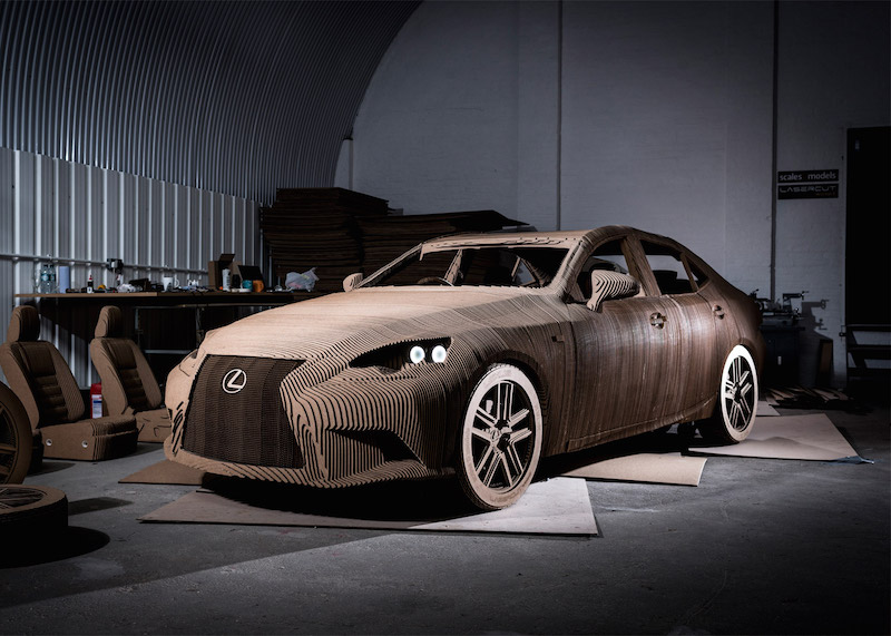 lexus have made a cardboard car you can actually drive. Black Bedroom Furniture Sets. Home Design Ideas