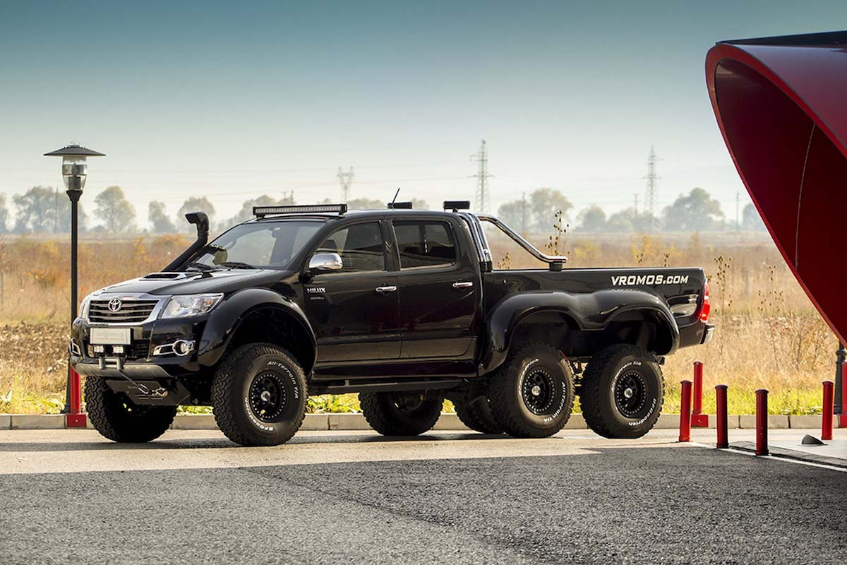 this 6x6 toyota hilux looks like it would be at home on mars. Black Bedroom Furniture Sets. Home Design Ideas
