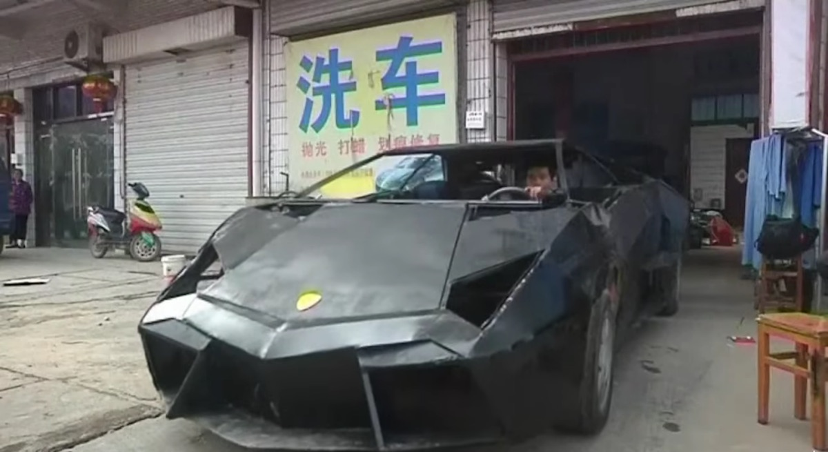 This Chinese Guy Built A Lamborghini Out Of Bits Of Metal