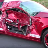 Wheel-spinning Shelby GT500 Crashes Into Brand New Truck (Video)