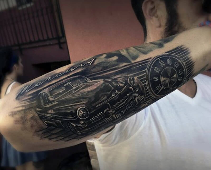 Car tattoos: 30+ totally epic car tattoo ideas