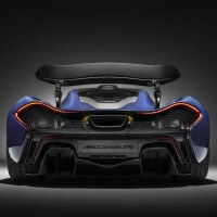 Pictures of the carbon fiber McLaren P1 and 675LT Spider