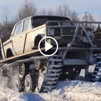 Things you'd only see in Russia #1,453: Guy turns a Lada into a tank