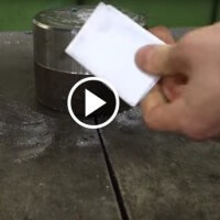 Guy tries to fold paper more than 7 times with hydraulic press. It doesn't go well