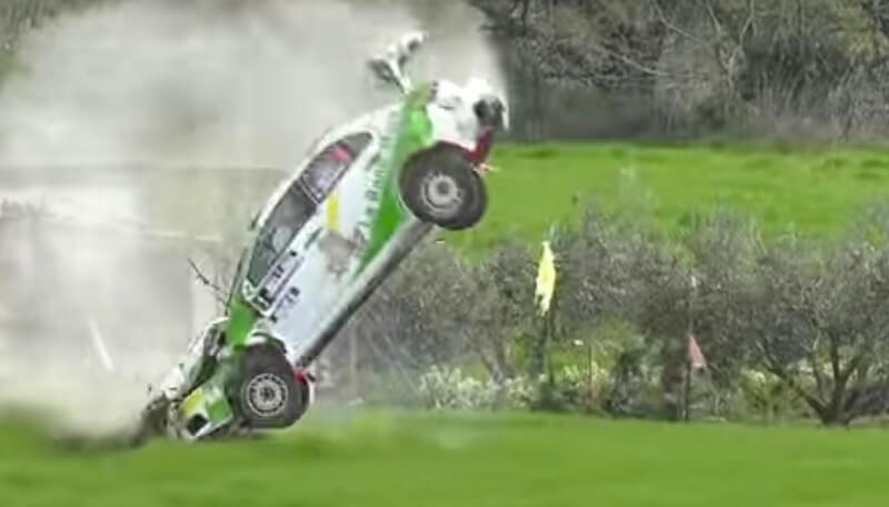 2016 Rally Circuito de Navarra crashes