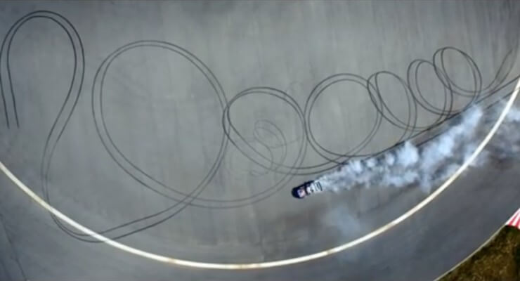 Watch Mad Mike Whiddett's insane 'two million' aerial drift video