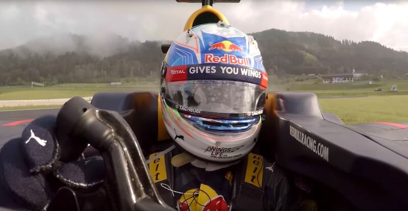Daniel Ricciardo puts his car through its paces on Austria's Red Bull Ring
