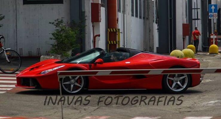 First picture of the open-top LaFerrari on the road